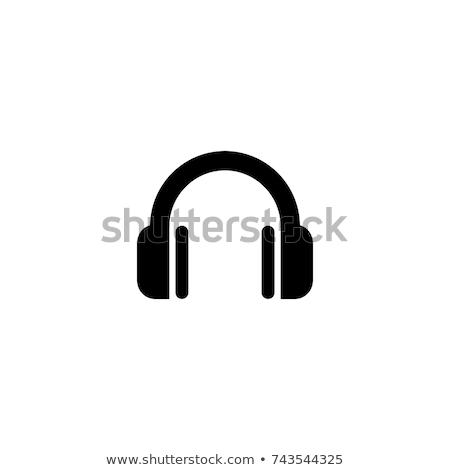 fejhallgató · vektor · illusztráció · izolált · fehér · diszkó - stock fotó © tkacchuk
