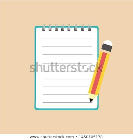 Levélpapír ceruza darab copy space fa asztal papír Stock fotó © stevanovicigor