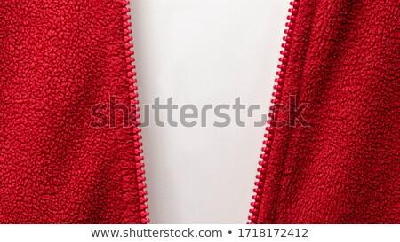 Metade abrir vermelho zíper roupa trancar Foto stock © erierika