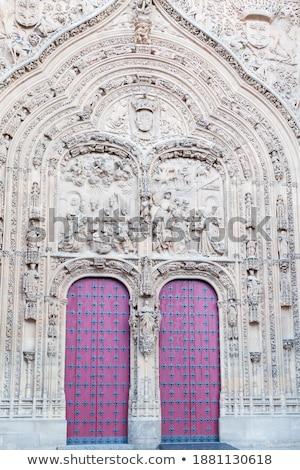 Taş kubbe yeni katedral sokak İspanya Stok fotoğraf © billperry