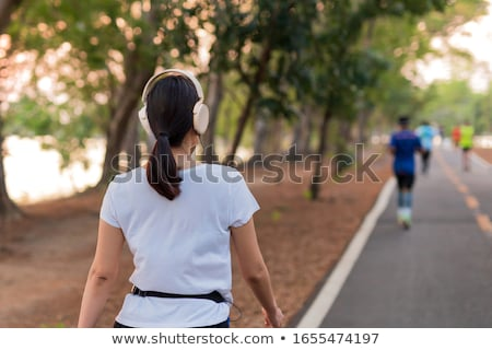 Walk with music. Stock photo © Fisher