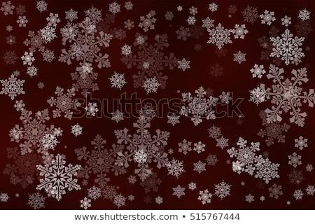 White SnowFlakes on Dark Red Stock photo © PokerMan