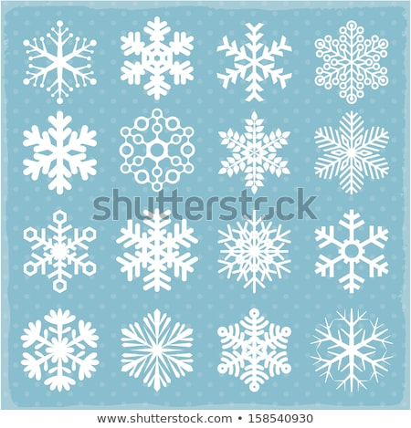 Stock photo: Blue snow flake pattern design