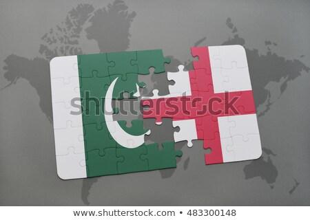 Európai szövetség Pakisztán zászlók puzzle izolált Stock fotó © Istanbul2009