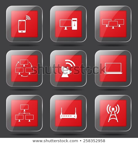 kommunikáció · tér · vektor · piros · ikon · terv - stock fotó © rizwanali3d