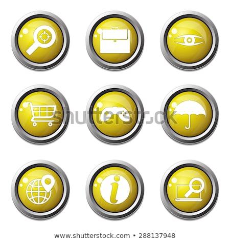 SEO Internet Sign Yellow Vector Button Icon Design Set 10 Stock photo © rizwanali3d