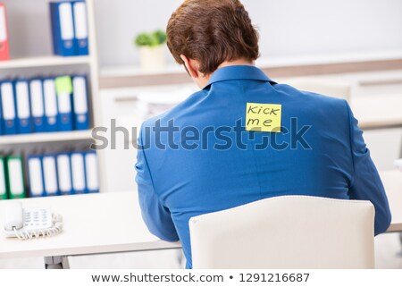 Iroda női irodai dolgozó férfi munkatárs másik Stock fotó © JamiRae