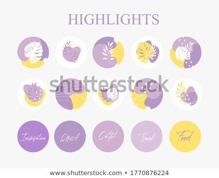 Shopping Sign Violet Vector Button Icon Design Set Stock photo © rizwanali3d