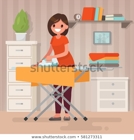 isolated flat iron and clothes stock photo © fuzzbones0