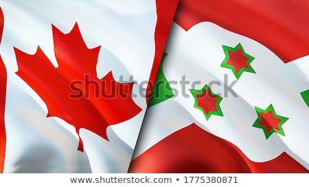 Foto stock: Canadá · Burundi · bandeiras · quebra-cabeça · isolado · branco
