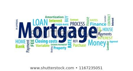Hypothèque mot affaires page papier maison Photo stock © fuzzbones0