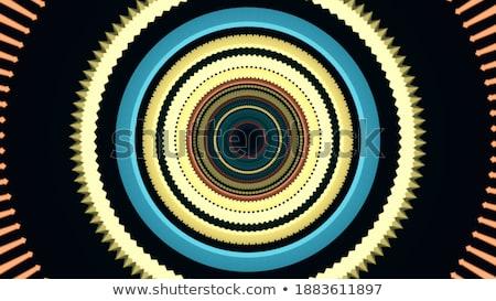 Senza soluzione di continuità cappio spirale concentrico nero Foto d'archivio © Melvin07