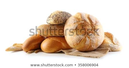 Pão pão isolado branco comida grupo Foto stock © frescomovie