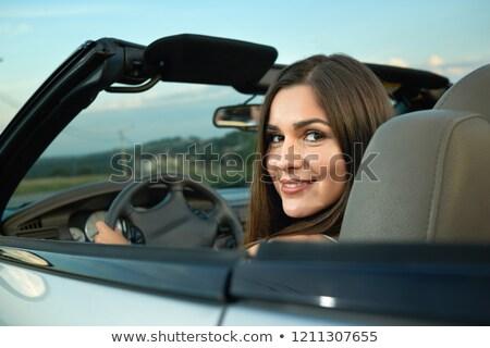 Mooie vrouw vergadering kabriolet genieten reis luxe Stockfoto © vlad_star