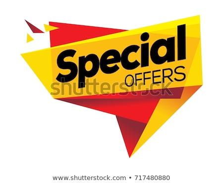 специальное предложение желтый вектора икона дизайна веб Сток-фото © rizwanali3d