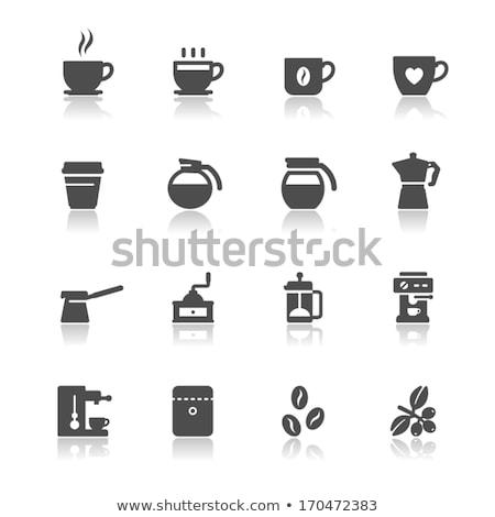 Feketekávé ikon szett vektor szett ikonok férfi Stock fotó © Genestro