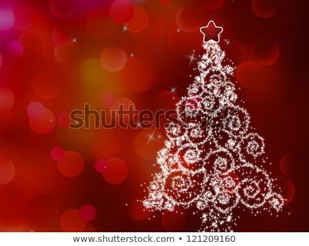 Christmas tree illustration on bokeh. EPS 8 Stock photo © beholdereye