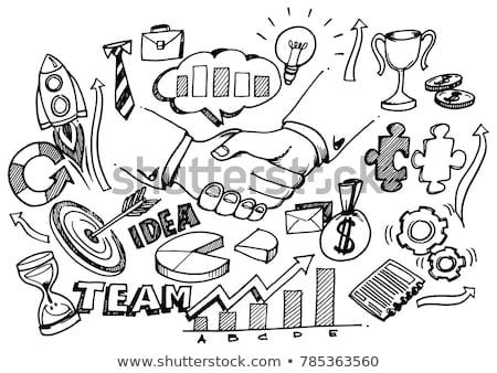 Erős üzlet együttműködés firka terv stílus Stock fotó © DavidArts