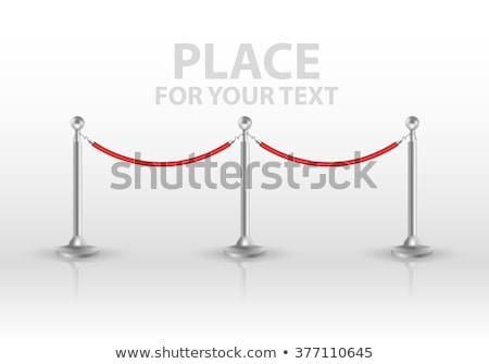 Tiled stand barriers isolated on white background. vector Stock photo © Samoilik