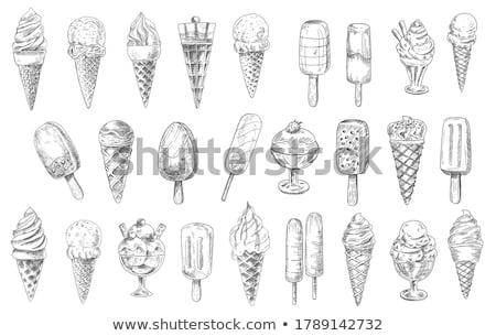 Frozen ice lolly popsicle Stock photo © unikpix