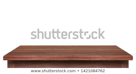 Szabad fa asztal szó iroda gyermek üveg Stock fotó © fuzzbones0