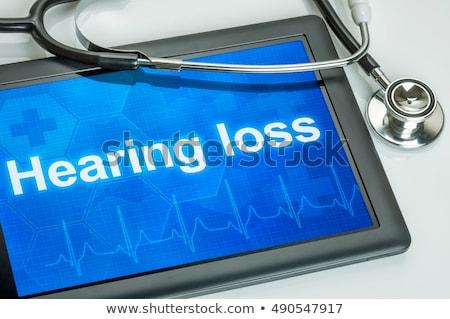 Tabletta diagnózis veszteség kirakat számítógép orvos Stock fotó © Zerbor