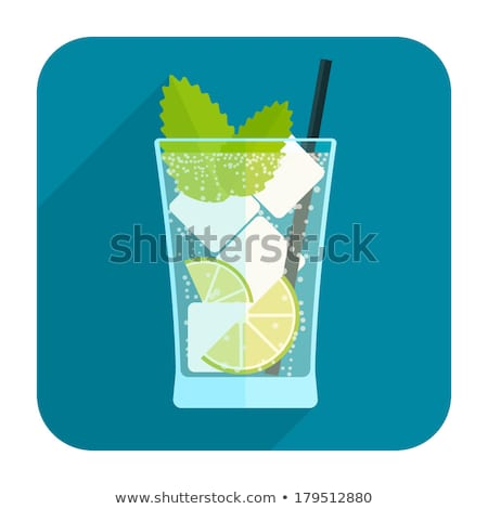 Rounded buttons with cocktail drinks Stock photo © bluering