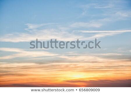 Raro colorido cielo puesta de sol naranja rojo Foto stock © zurijeta