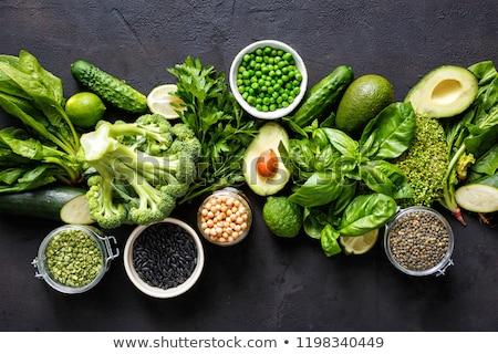 Szett zöld zöldségek kézzel rajzolt művészi vízfesték Stock fotó © Sonya_illustrations