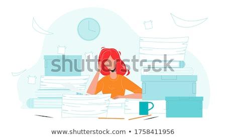 bestanden · kleurrijk · documenten · business - stockfoto © simply