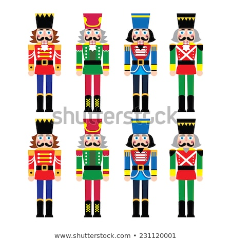 Man on a green toy soldier costume Stock photo © homydesign