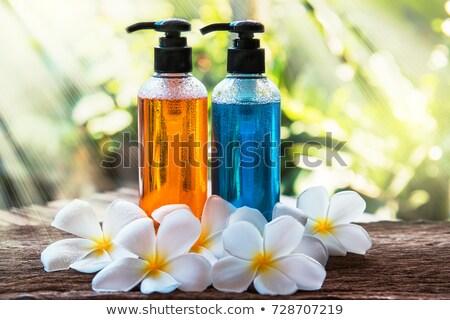 flores · fresco · molhado · preto · pedra · cópia · espaço - foto stock © neirfy