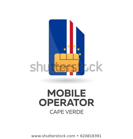 Cape Verde mobile operator. SIM card with flag. Vector illustration. Stock photo © Leo_Edition