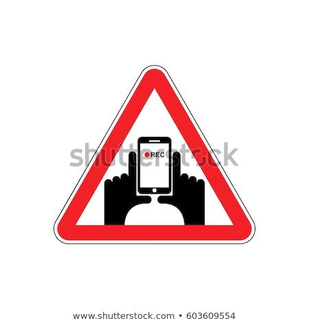 注目 垂直 ビデオ 手 スマートフォン レコード ストックフォト © popaukropa
