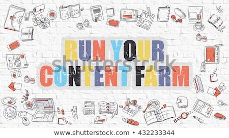 Contenu ferme blanche modernes ligne style Photo stock © tashatuvango