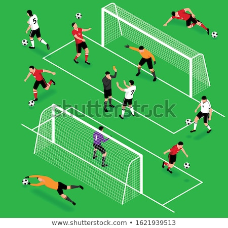 Icon playground football in isometric, vector illustration. stock photo © kup1984