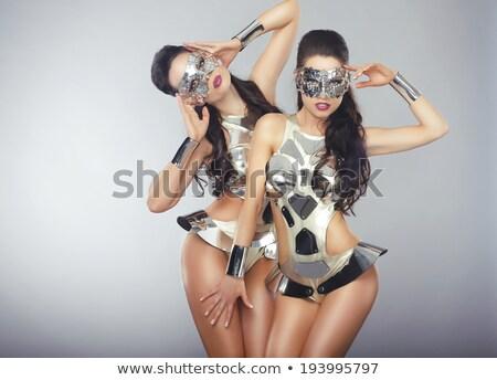 Dwie kobiety w fantazyjnych strojach Zdjęcia stock © Gromovataya
