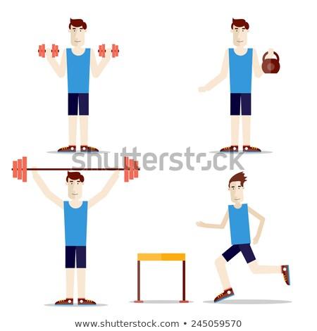 ステッカー セット 人 体操 実例 女性 ストックフォト © bluering