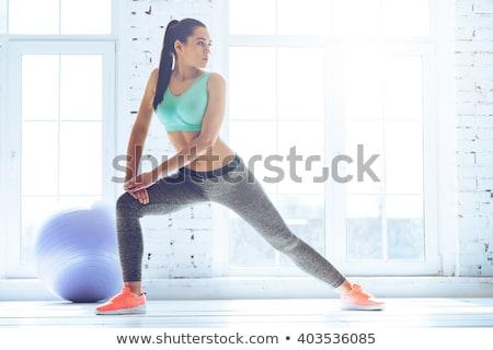 женщину Постоянный окна бюстгальтер городского гламур Сток-фото © IS2