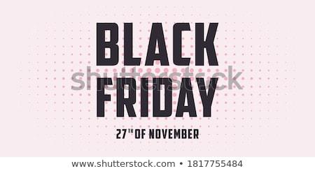 desconto · black · friday · venda · cartaz · adesivo - foto stock © leo_edition