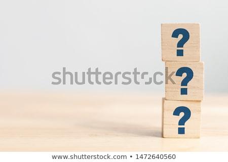 Cevap görüntü işkadını el iş Stok fotoğraf © Imabase