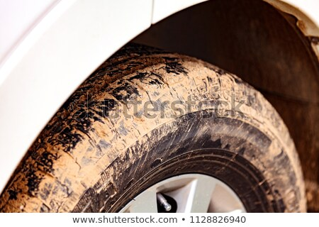 Closeup shot of car wheel covered by clay  Stock photo © Nobilior