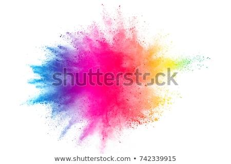 Renkli sıçrama ayarlamak soyut dizayn boya Stok fotoğraf © lemony