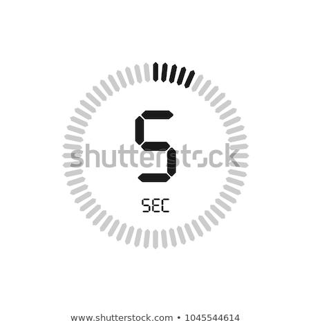 Aislado cronógrafo icono cinco segundo reloj Foto stock © Imaagio