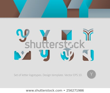 colorful letter y logo stylized icon Stock photo © blaskorizov