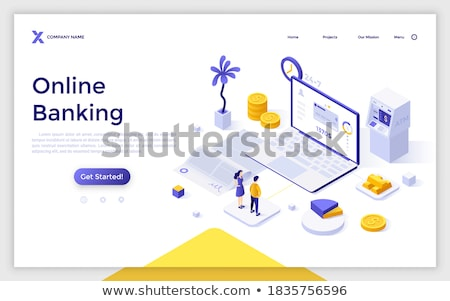 Balance concept - modern isometric vector web banner Stock photo © Decorwithme