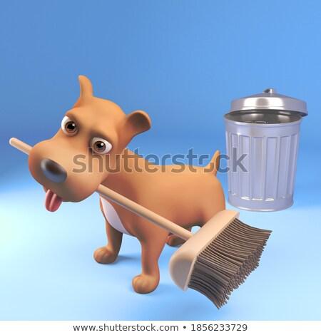 Hond illustratie onzin krant groene grafische Stockfoto © colematt