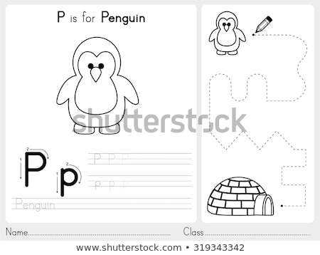 Educativo gioco libro da colorare bianco nero cartoon illustrazione Foto d'archivio © izakowski