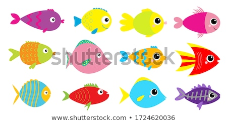 fish cartoon concept icons stock photo © netkov1