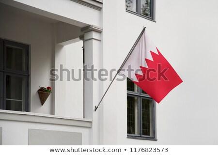 Ev bayrak Bahreyn beyaz evler Stok fotoğraf © MikhailMishchenko